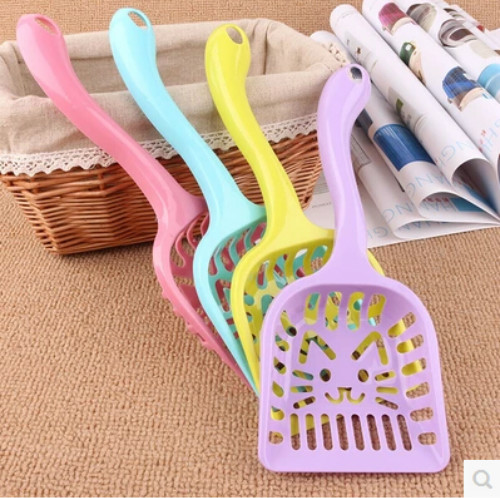 Pet Cats Cleaning Tool Scoop Pet Supplies Dog Puppy Cat Kitten Plastic Litter Cleaning Scoop Poop Shovel Waste Tray