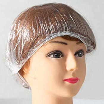 100Pcs Hotel Home Disposable Shower Cap Waterproof Clear Elastic Women Men Bath For Spa Hair Salon Beauty Accessories Anti Dust