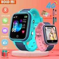Reloj inteligente 4G para niños y estudiantes, pulsera con GPS, WIFI, resistente al agua, Monitor de ubicación, teléfono, LT21
