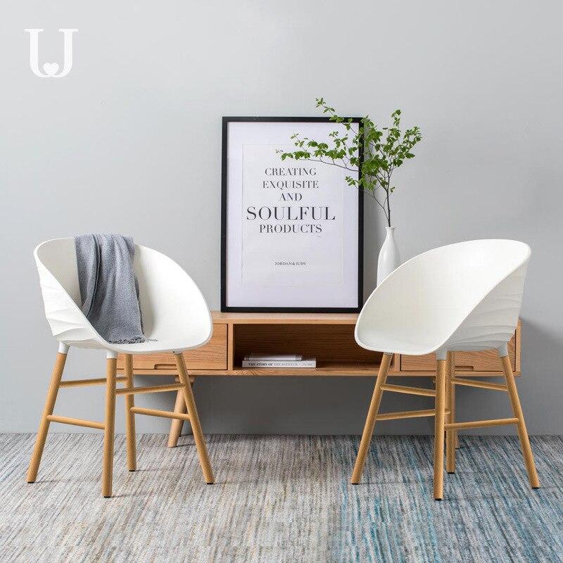 Zuo Dun Judy Wave Armchair Minimalist Modern Home Dining Chair Desk Chair Makeup Armchair Solid Wood Chair