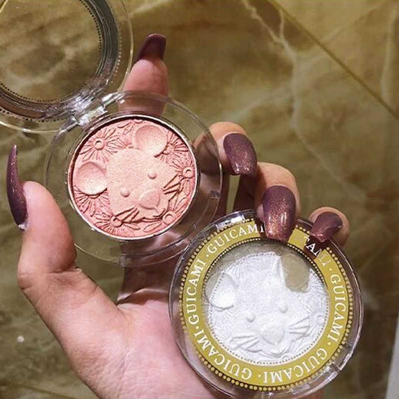 เมาส์น่ารัก Highlighter Palette Face Contour Sculptor แต่งหน้า Shimmer Powder Illuminator Highlight Powder GLOW Kit เครื่องสำอางค์
