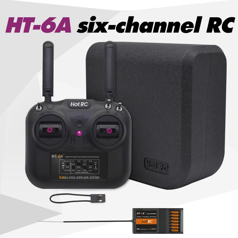 HT-6A UAV aircraft model six-channel remote controller suitable for small crossing fixed-wing car ship model
