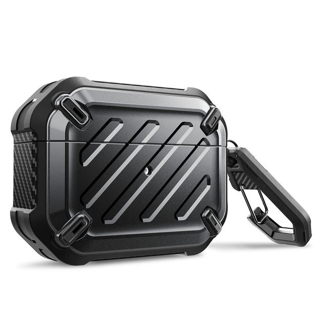 SUPCASE UB Pro Designed For Airpods Pro Case 2019 Full Body Rugged Protective Cover with Carabiner For Apple Airpods Pro (2019)