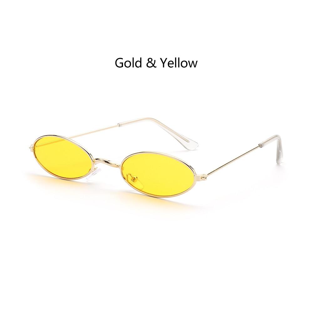 Fashion Vintage Shades Sun Glasses Elegant okulary Retro Small Oval Sunglasses for Men Women Eyeglasses gafas oculos 11