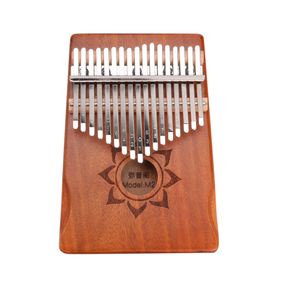 Wood Kalimba Mahogany Instrument Finger Percussion with Tuning Thumb Piano Musical Tool for Music Lover Accessories
