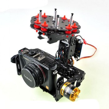 FPV Brushless Gimbal Camera PTZ w/ 2pcs Motor Damping Plate for Mini Digital Camera FPV Aerial Photography