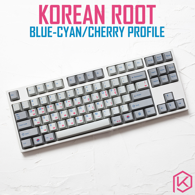 Kprepublic 139 Korea Koreanische wurzel schrift sprache brief Kirsche profil blau cyan Dye Sub Keycap PBT gh60 xd60 xd84 tada68 87 104