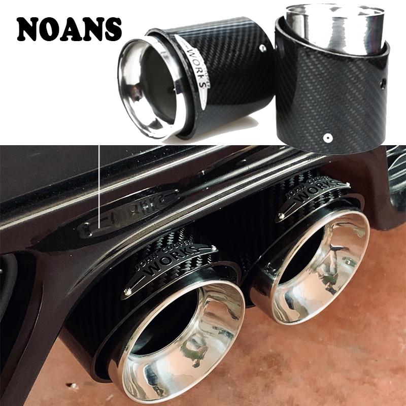 Pour Mini Cooper F60 R60 R61 F54 F55 F56 F57 R55 R56 R57 R58 R59 S JCW tuyau d'échappement en Fiber de carbone pointe accessoires de voiture de qualité supérieure