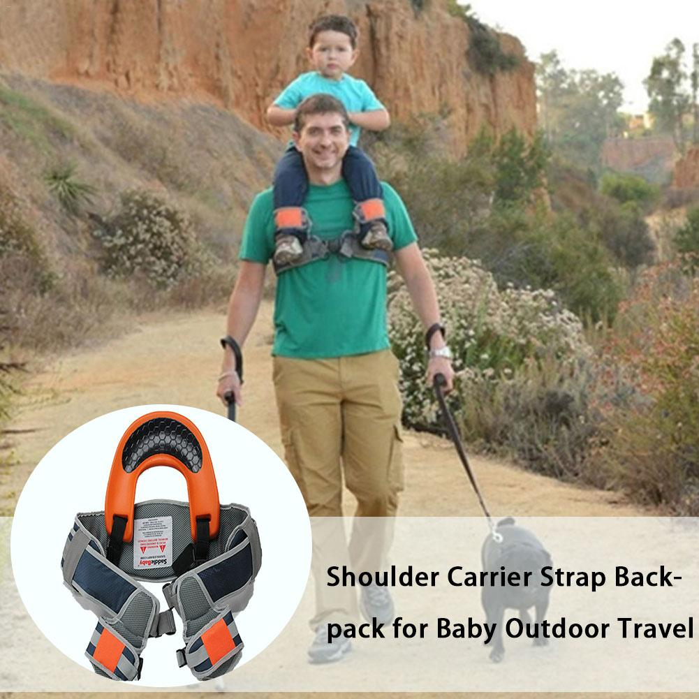Hands-Free Shoulder Carrier Child Strap Rider SaddleBaby For 2-5 Years Old Kids Baby Safest  Kangaroo Wrap Sling Suspenders