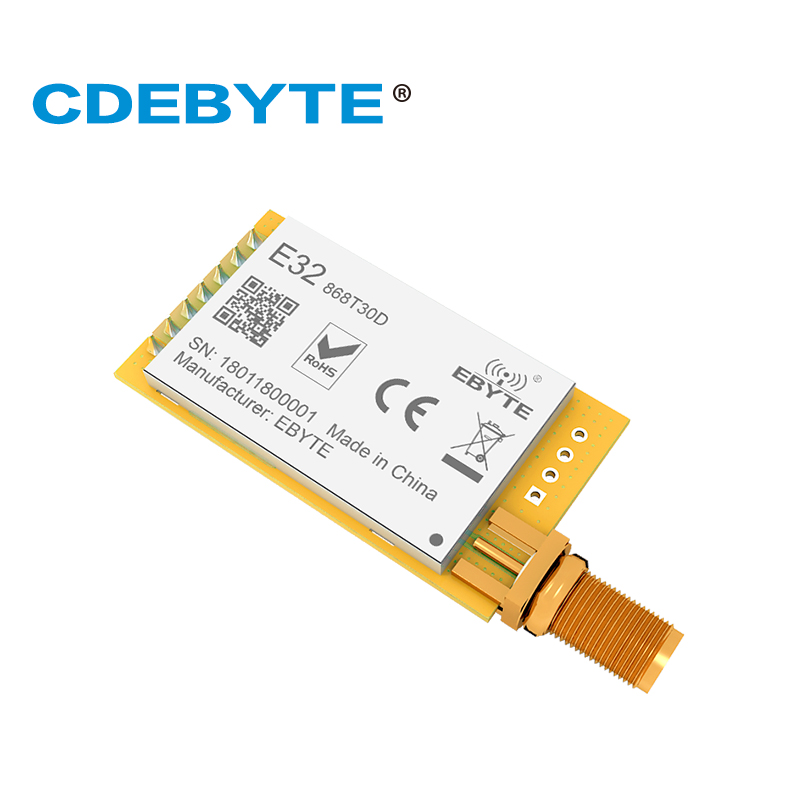 Ebyte E32-868T30D SX1276 868MHz 30dBm 1W LoRa Module RF Long Range UART SMA-K Interface 868 Mhz Transmitter And Receiver