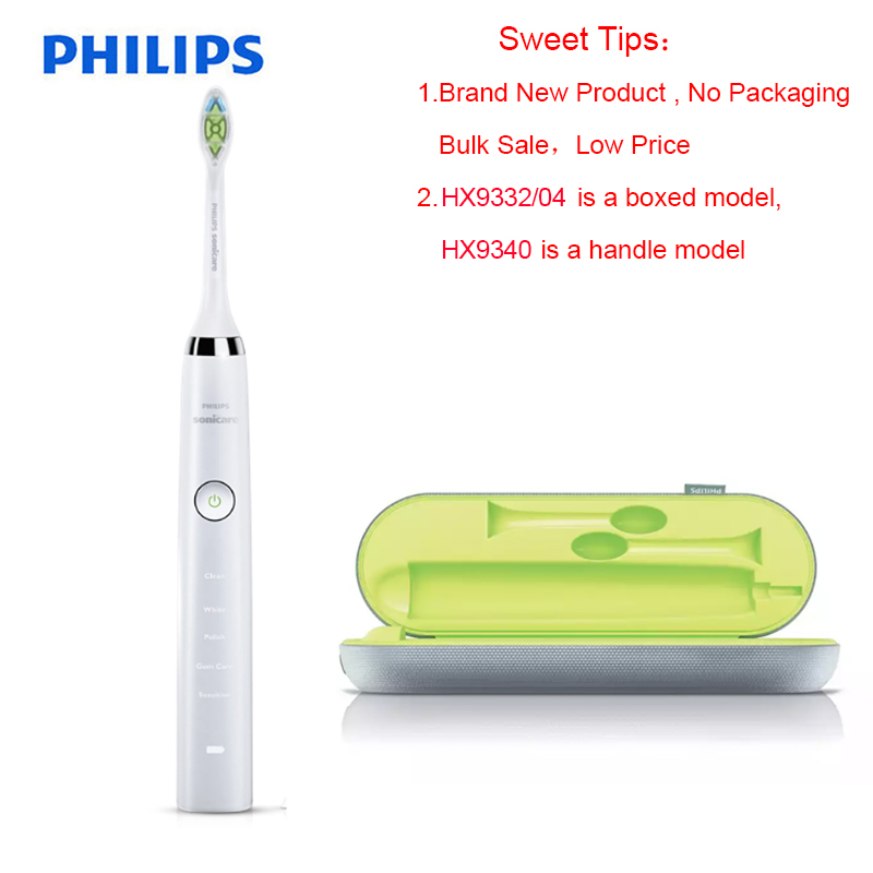 Philips Sonicare HX9340 Sonic Quality Electric Toothbrush Diamond Clean White 360 Wave with Travel Charger for Adult image
