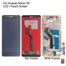 Para huawei honor 5x display lcd touch screen digitador assembléia peças de reparo para huawei gr5 5.5 polegadas KIW L21 tela lcd