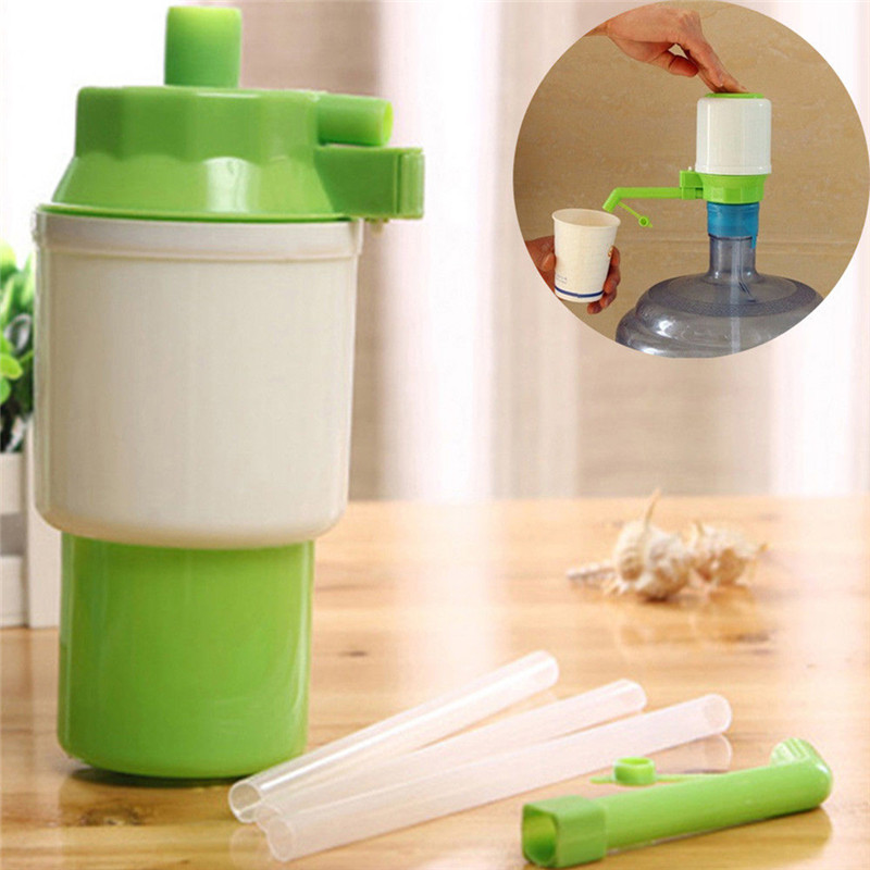High Quality Fanshionable Bottled Drinking Water Dispenser Green Hand Pump Water Bottle Bottled Water Sailor Pressure Pump Hot