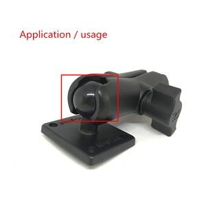 Image 4 - Jadkinsta 1 או 1.5 אינץ גומי כדור הר כדי אלומיניום אופנוע עגול כיכר הרכבה בסיס לgopro מצלמה טלפונים סלולריים