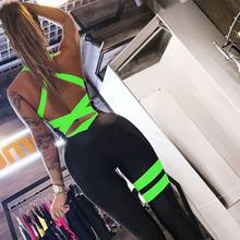 Europe and the United States 2020 new bodysuit sports pants female backless sexy corset fitness jumpsuit Casual women bodysuit(China)