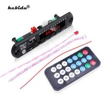Kebidu 5V 12V MP3 Wma Decoder Board Audio Module Usb Tf Radio Bluetooth5.0 Draadloze Muziek Auto MP3 Speler met Afstandsbediening