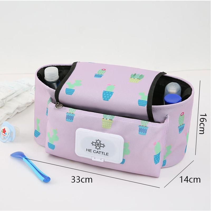 Infant Stroller Diaper Hanging Bag Organizer Pram Waterproof Multifunction Maternity Bag Large Capacity Baby Stroller Nappy Bag