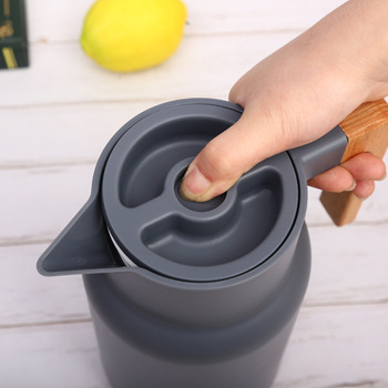 1L Large Household Hot Water Pot Kettle Glass Vacuum Flasks Insulation Thermos Office Coffee Thermal Warmer Bottles Double Wall 2