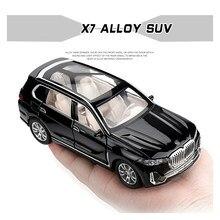 1:32 suv x7 simulação liga carros de brinquedo diecast puxar para trás suv modelo de carro crianças brinquedos veículos fora de estrada decorações de natal presente