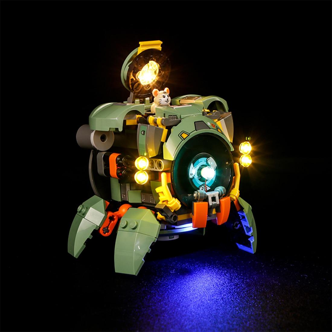 Vonado USB LED Lighting Kit For Overwatch Wrecking Ball 75976(LED Included Only, No Kit) Toy For Children Educational Toys Gift 5