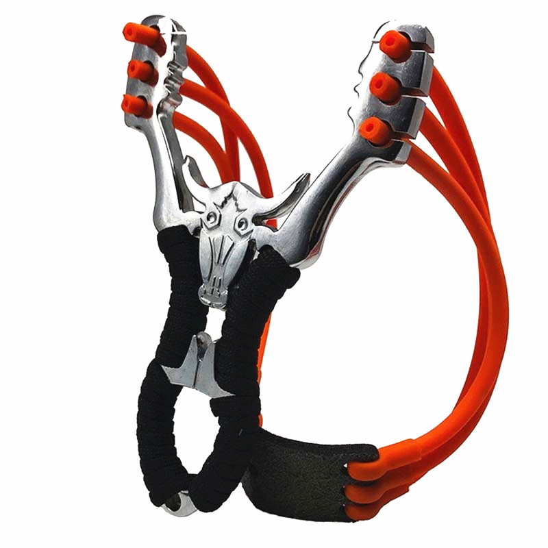 Best Selling High Quality Outdoor Hunting Shooting Alloy Slingshot Powerful Ejection And Rubber Band Adult Sling Shooting Game