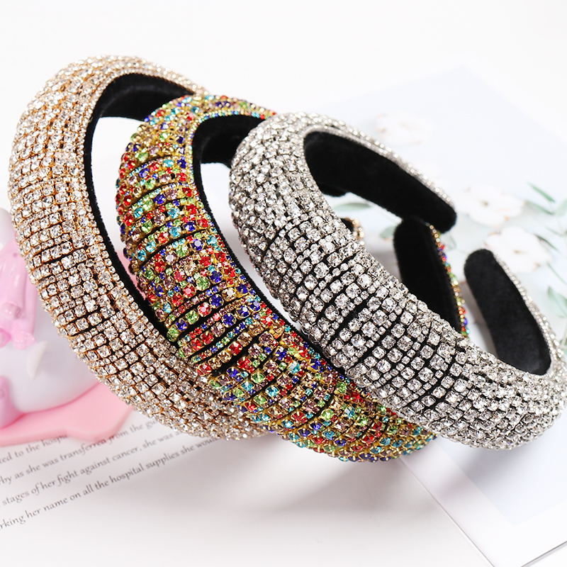Women Wedding Headband Diamond Gems Ladies Hairband Baroque Crystal  Girls Gift