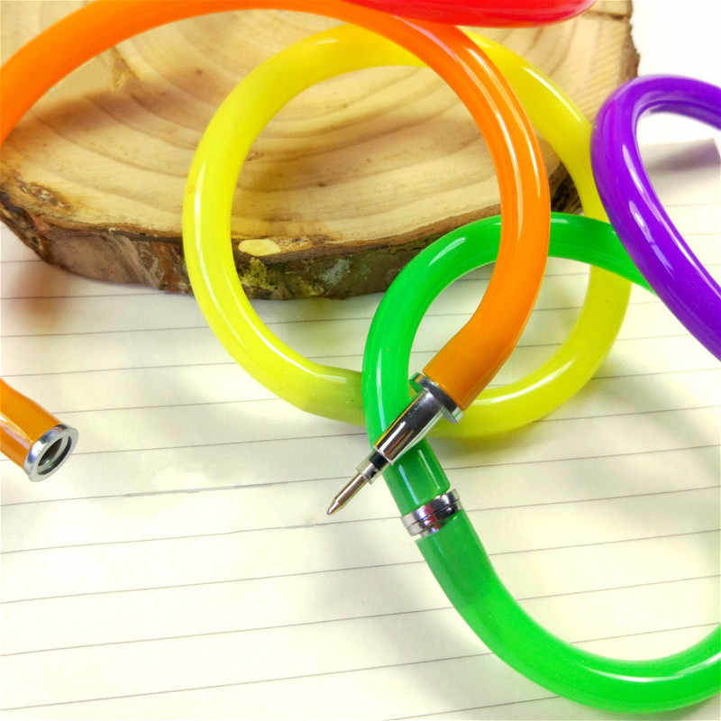 1Pcs Lovely Party Favorsสีปากกาลูกลื่นของขวัญตลกเด็กของเล่นWrist BallปากกาOffice & การศึกษาFlexibl