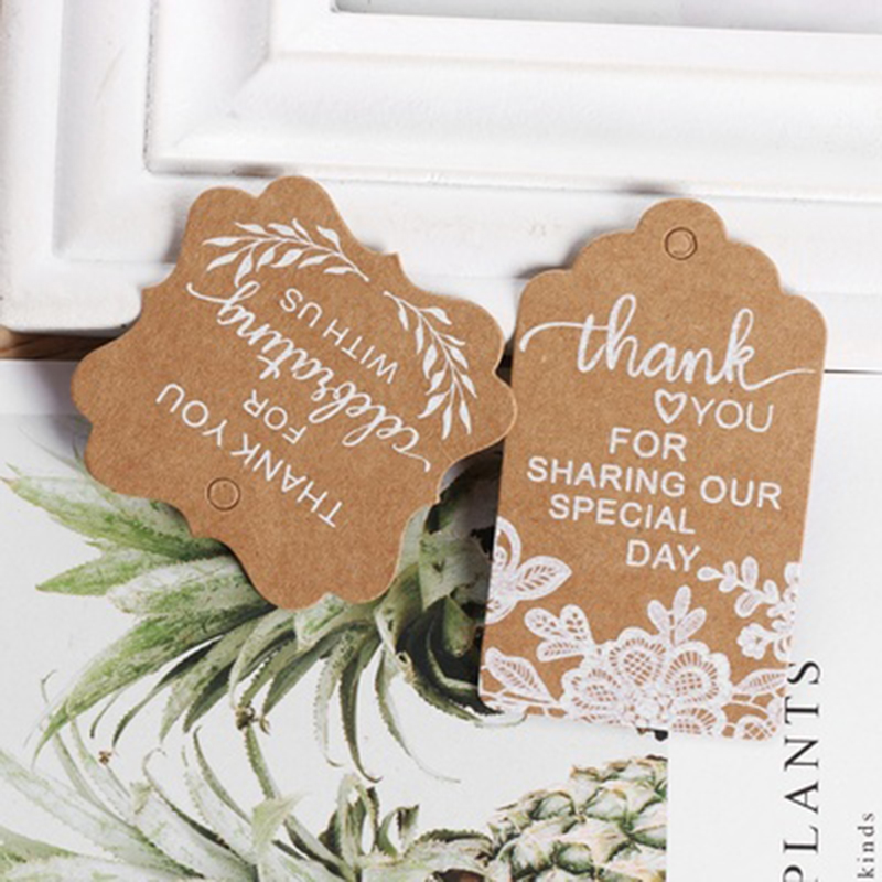 Kraft Paper Gift Cards Wedding Party