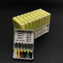 10 шт. в упаковке, стоматологический h-файл, 25 мм, для ручного использования, файлы, эндодонтические инструменты, стоматологические инструменты, отбеливающий материал для зубов