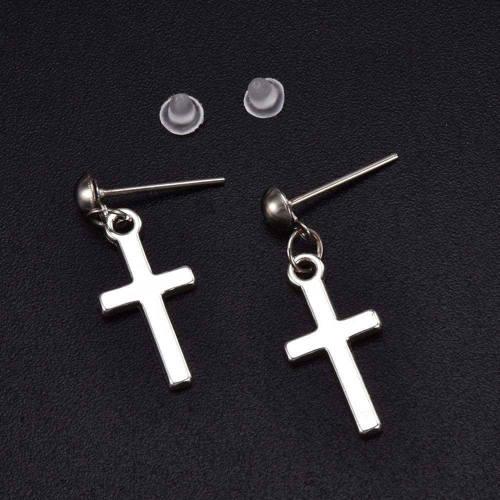 Women Fashion Punk Cross Pendant Cartilage Drop Dangle Earrings Jewelry Aretes De Mujer Modernos 2019