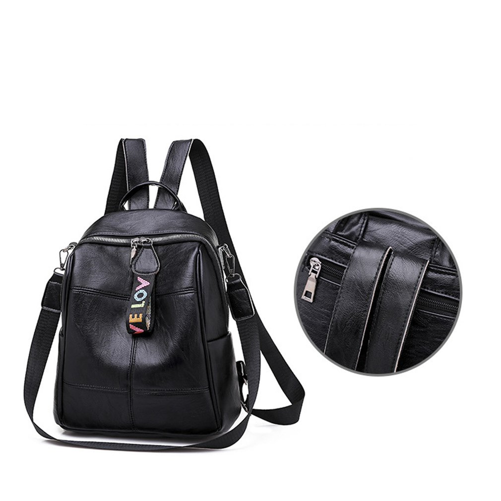 H08fbed10df1e42749ff6655c9bab05efp - Fashion Soft Leather Multipurpose Backpack Shoulder Handbag Women Backpack Color Matching Large Capacity Travel Shoulder Bag