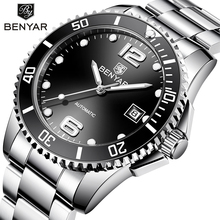 Benyar Design Brand Luxury Men Watches Automatic Black