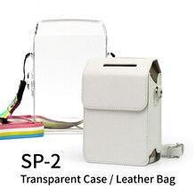 Fujifilm Instax حصة SP2 طابعة صور SP2 حصة الهاتف الذكي طابعة صور لاسلكية من البلاستيك الصلب حقيبة كاميرا جلدية