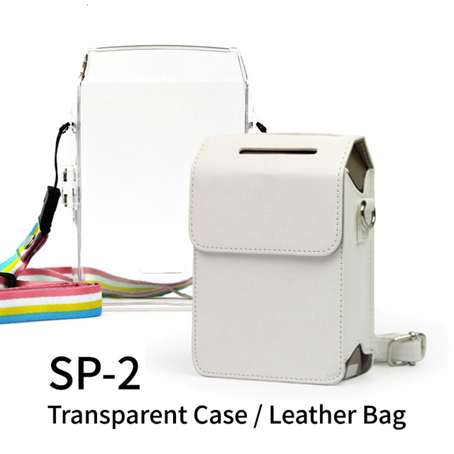 Fujifilm Instax partager SP2 imprimante photo SP2 partager smartphone imprimante photo sans fil étui en plastique dur sac dappareil photo en cuir