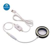 PHONEFIX SS 033C 2 IN 1 USB regulowana jasność LED okrągłe światło z UV dymu oleju odporny na kurz lustro do mikroskopu odporna na kurz w Zestawy narzędzi ręcznych od Narzędzia na