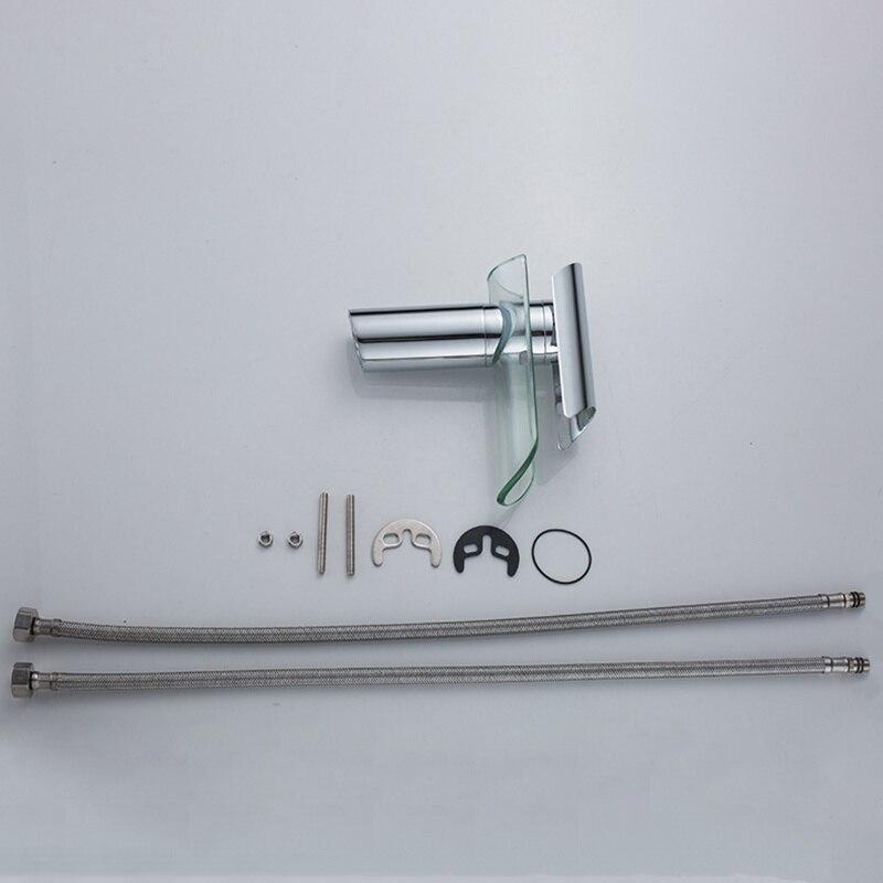 H08fc50b5521d444b80927e8a76957b35k Basin Faucets Waterfall Faucet For Bathroom Basin Mixer Tap Single Handle Sink Mixer Tap Deck Mounted Bathroom Torneiras