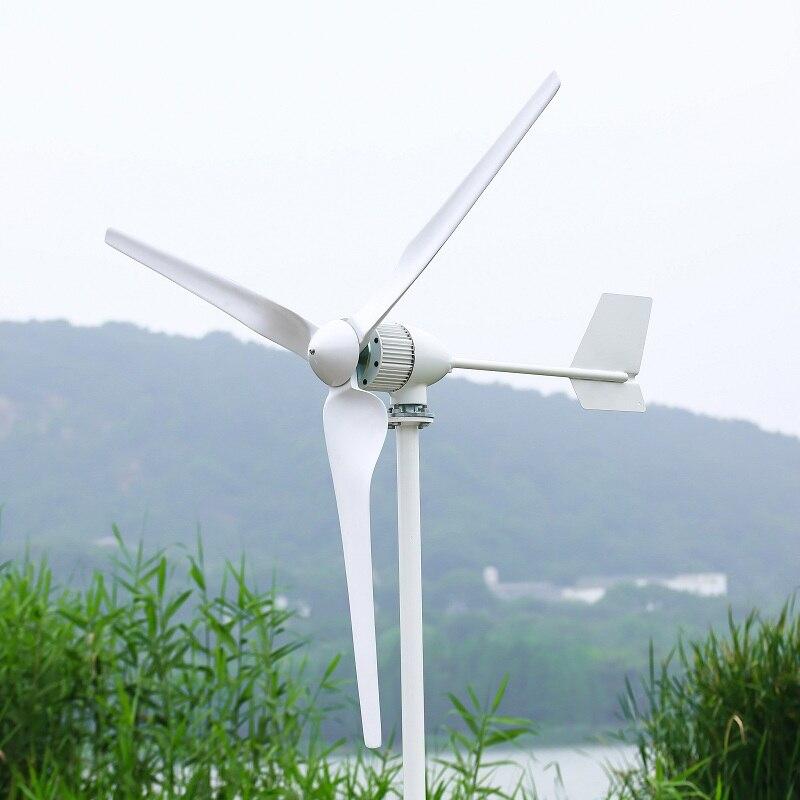 1000 Вт горизонтальный генератор энергии ветровой турбины 24 В/48 В 3/5 лопастей скорость запуска 2 м/с подходит для уличных ламп