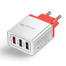Universal 5V 3A USB Quick Charge 3.0 18W Phone Charger for iphone 7 8 X Huawei EU Plug QC3.0 Fast Charging Multi Charger