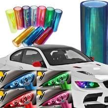 Auto lâmpada filme carabinas camaleão farol cor matiz filme nevoeiro/cauda luz capa adesivo vinil neon decoração do carro folha 30*100cm