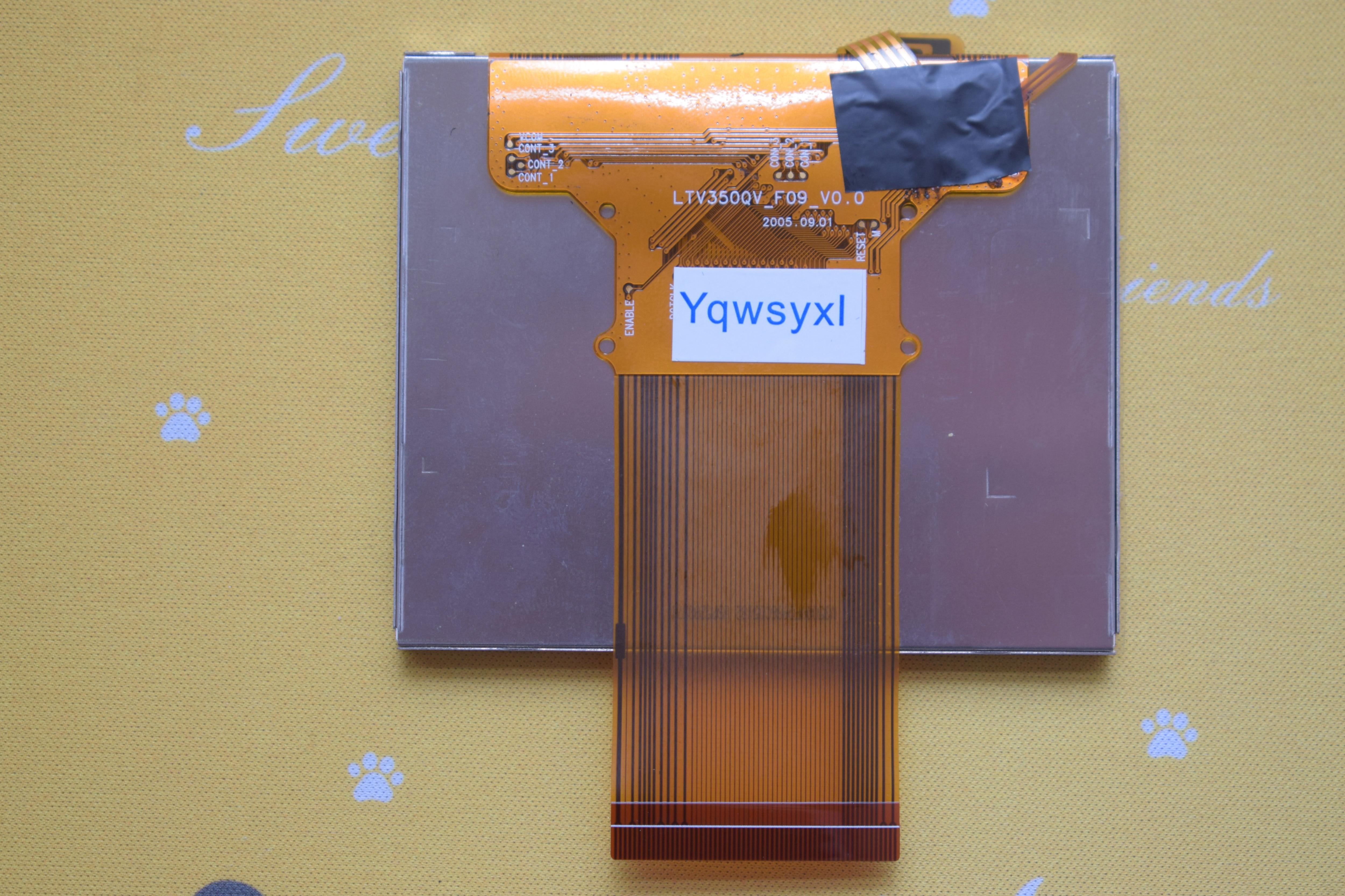 Yqwsyxl Original New 3.5 Inch LTV350QV-F06 LTV350QV-F09 LCD Scren Display Digitizer For Saeco Primea Touch Plus GPS PND Panel