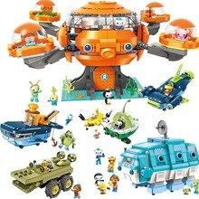 Les octonauts octood polvo playset & cracas kwazii peso inkling duplo iluminar tijolos bloco de brinquedo crianças construção