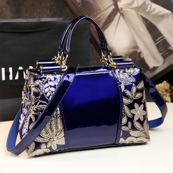Luxury Handbags Women Bags Designer Embroidery Flower Sequined High Quality Leather Famous Brand Shoulder Ladies Messenger Totes aequeen women genuine leather bags totes messenger bags hign quality designer luxury brand bag ladies handbags feminina bolsa