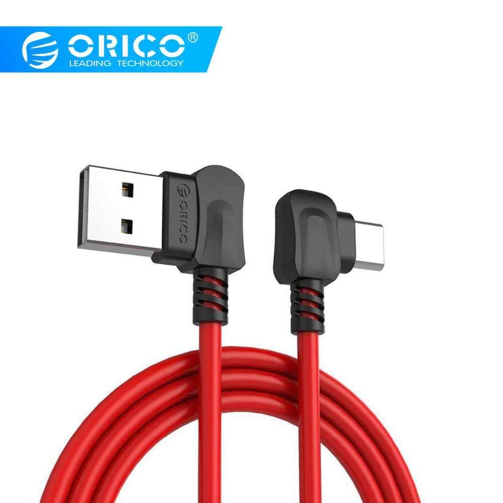 ORICO Right-angled Bending for USB TYPE C Phones USB Charging Cable For Samsung Galaxy S8 Note 8, OnePlus 2, for Xiaomi 4C USB-C
