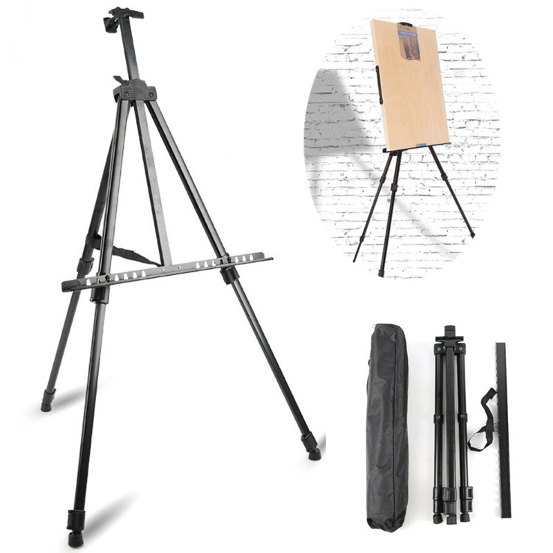Portable Metal Easel Adjustable Sketch Travel Easel Thicken Triangle Aluminum Alloy Easel