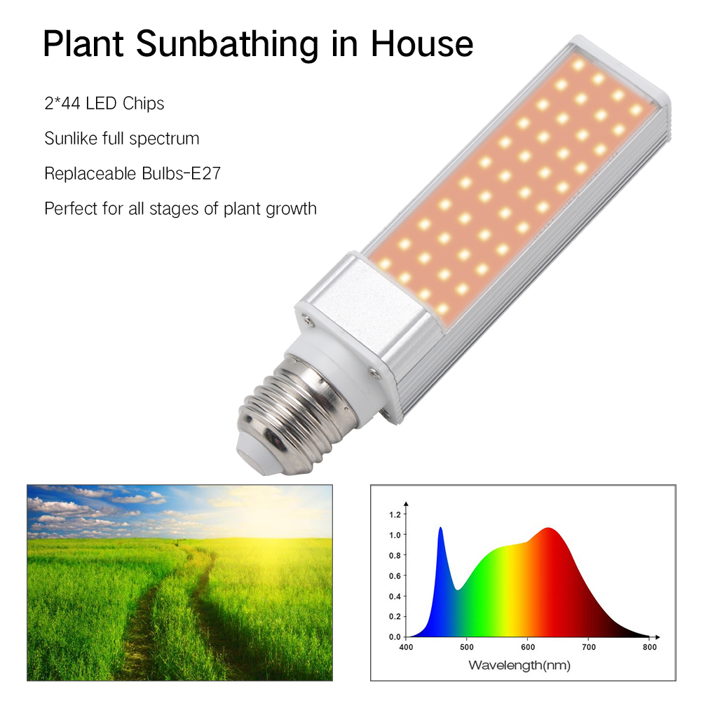 H08fcbbf05e334fd9b7bad739a5a2d944X - LED Grow Light Full Spectrum 380~800NM 45W 88 LED Dimmable Growing Lamp with Timer Indoor Tent Greenhouse Plant Flower Phytolamp | RadiantHomeLighting