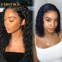 Short Bob Lace Front Human Hair Wigs Brazilian Curly Human Hair Wig For Black Women hd Frontal afro deep water wave Long Wig