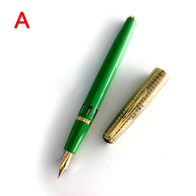 New exclusive color WingSung 601 series Fountain Pen double bead piston 14k gold pens large capacity Office Practice School Gift
