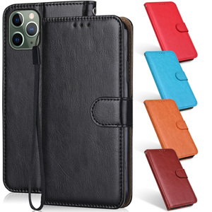 Image 1 - Leather Case For iPhone 12 11 Pro XS Max Mini Phone Bag for iPhone 6 6S 7 8 Plus X XR iPhone11 iPhone12 Wallet Flip Cover