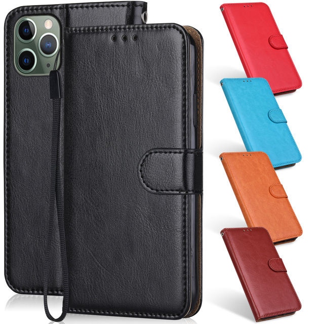 Leather Case For iPhone 12 11 Pro XS Max Mini Phone Bag for iPhone 6 6S 7 8 Plus X XR iPhone11 iPhone12 Wallet Flip Cover