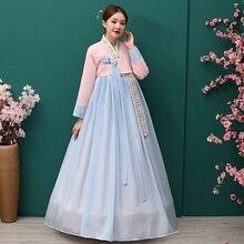 Традиционный корейский Костюм-ханбок, платье, древняя принцесса, танцевальный костюм, женский этнический корейский народный танцевальный сценический костюм, Свадебная вечеринка